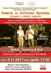 Plakat koncertu Zuzanny i Roka Mulec