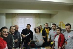 Przedstawiciele Stowarzyszenia Inicjatywa Dąbrowska w kuchni