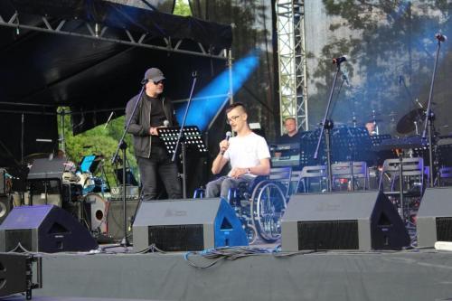 Jarosław Caputa i Maciej Pańczyk na scenie... Dotyk Dźwięku 2019