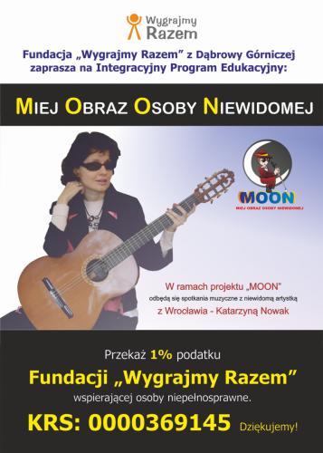 MOON plakat z Katarzyną Nowak