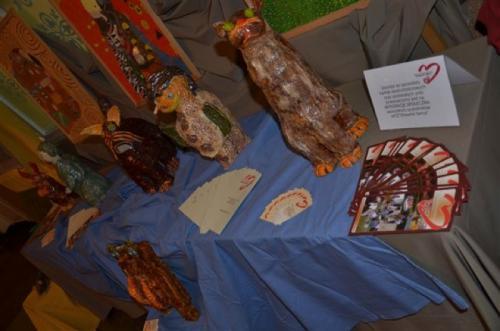 Koncertowi towarzyszyła wystawa prac plastycznych wykonanych przez podopiecznych WTZ OTWARTE SERCA i SOSW z Dąbrowy Górniczej