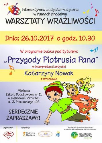 Plakat baśni o przygodach Piotrusia Pana