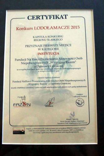 Certyfikat Lodołamacza 2015