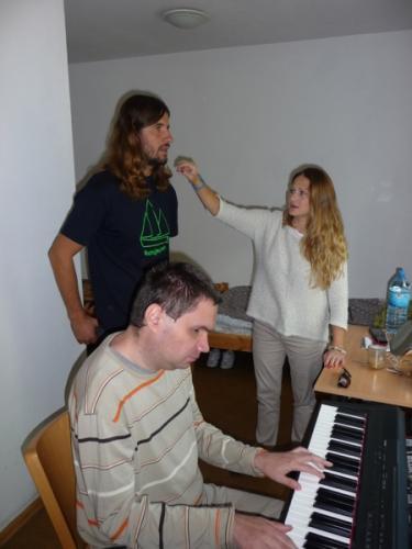 Lekcja Roberta Zarzyckiego z Agnieszką Wilczyńską (przy klawiszu Marcin Borek)