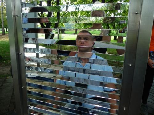 A tutaj w lustrzanym ogrodzie.Była świetna zabawa!